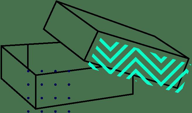 Fond + Couvercle à assembler dans les angles