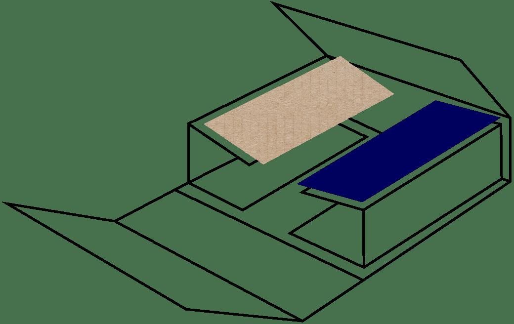 Emballage 3 plaques rainées pour grandes dimensions